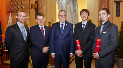 Christoph Dobraunig and Thomas Unterluggauer graduate sub auspiciis praesidentis